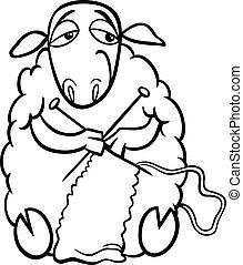 sheep, coloritura, collegamento, pagina