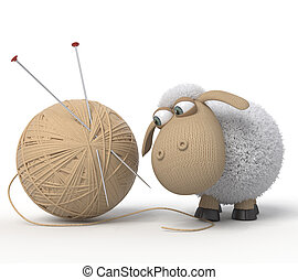 sheep, ridicolo, 3d