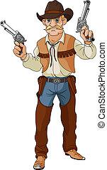 shoo, west., cowboy, pronto, selvatico