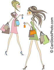 shopping, donne