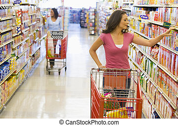 shopping drogheria, donne