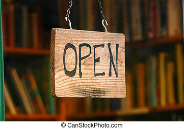 shopping, immagine, segno, finestra, libro, vendita dettaglio, aperto, negozio