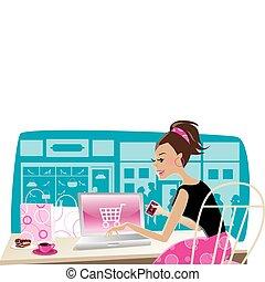 shopping, internet