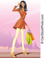 shopping, moda, ragazze
