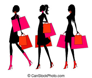 shopping, ragazze