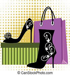 shopping, scarpe