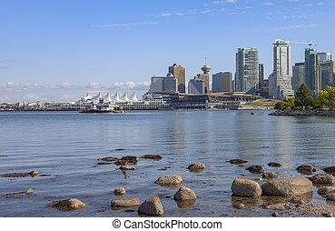 shoreline, orizzonte, canada., bc, vancouver