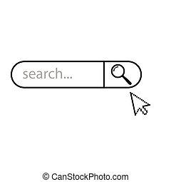 siallowed, sbarra, icona, ricerca internet