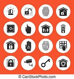 sicurezza casa, icone
