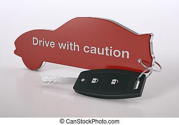 sicurezza, concetto, automobile