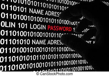 sicurezza, concetto, computer