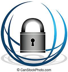 sicurezza, globale, icona