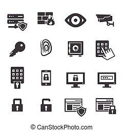 sicurezza, icone