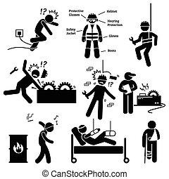 sicurezza, professionale, lavoro, salute