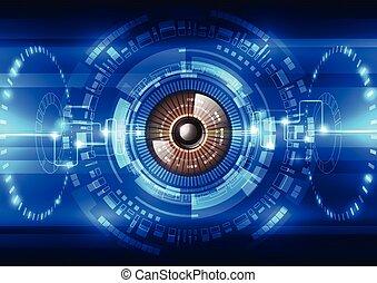 sicurezza, vettore, sistema, fondo, astratto, futuro, illustrazione tecnologia