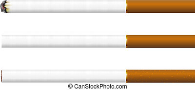 sigarette, sfondo bianco