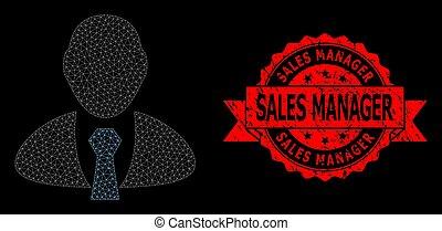 sigillo, grunge, polygonal, direttore, maglia, francobollo, vendite