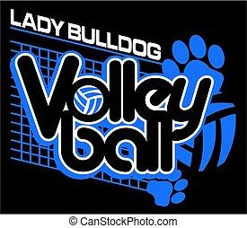 signora, bulldog, pallavolo