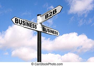 signpost, b2b