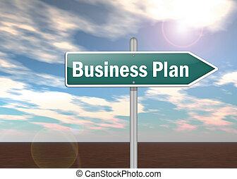 signpost, piano, affari