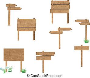 signposts, legno, marrone