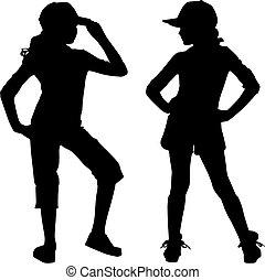 silhouette, adolescente