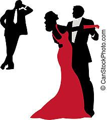 silhouette, ballo