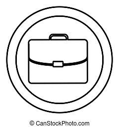 silhouette, cartella, cornice, esecutivo, icona, circolare