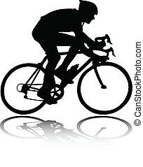 silhouette, ciclista