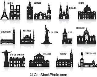 silhouette, città
