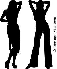 silhouette, donne