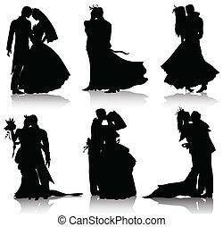 silhouette, matrimonio