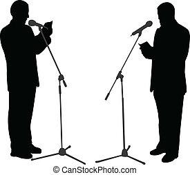 silhouette, parlare pubblico