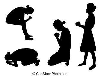silhouette, pregare