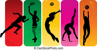 silhouette, sport