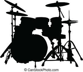 silhouette, tamburi