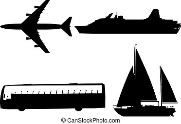 silhouette, trasporto, collezione