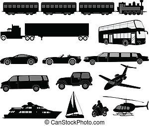 silhouette, trasporto