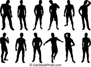 silhouette, uomini