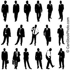 silhouette, uomo affari