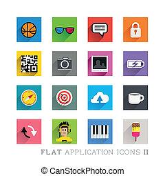 simboli, appartamento, progetta, icona, &