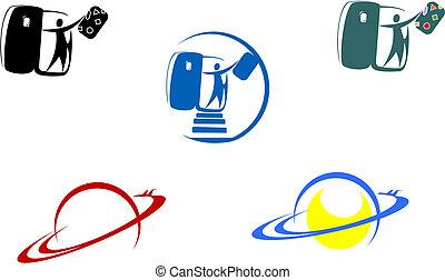 simboli, aviazione, viaggiare