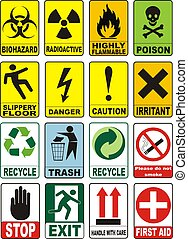 simboli, avvertimento, utile