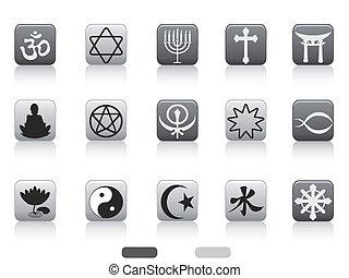 simboli, bottone, religioso