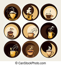 simboli, caffè, tè