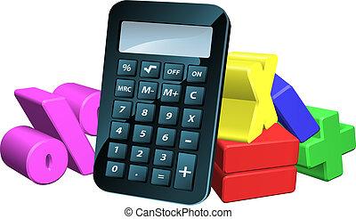 simboli, calcolatore, matematica, uomo