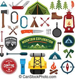 simboli, campeggio
