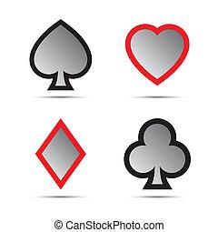 simboli, carta da gioco