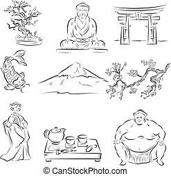 simboli, cultura, giapponese