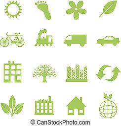 simboli, ecologia, verde